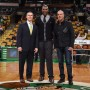 Senior VP of Corporate Partnership and Business Development Ted Dalton, Former Celtics Player Leon Powe and Benrus CEO Giovanni Feroce