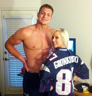 GoLocalProv | Gronkowski Steals Brady's Jersey During Red Sox ...