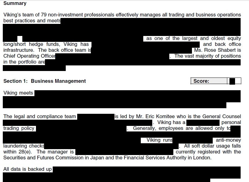GoLocalProv | Hedge Fund Reports Censored - See the Redactions