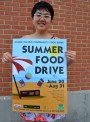 This year's Summer Food Drive poster was created by RISD student Karen Sung, who created the design as part of a class project in Professor Susan Doyle's typography class this spring.
