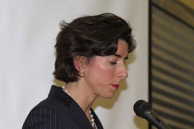 Governor Raimondo took credit for the funding to Robbins