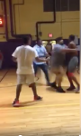 Video emerged of the fight at Joslin Rec Center which saw an employee suspended.