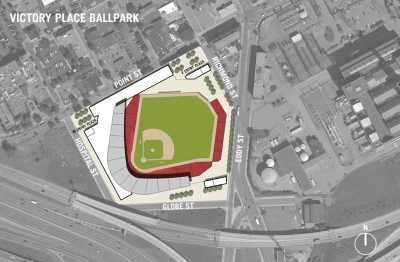 Top view of alternative PawSox location