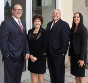 From left to right: Anthony J. Landi Jr., Deborah R. Shuster, Jeffrey M. Boudjouk, and Kelly Almonte.