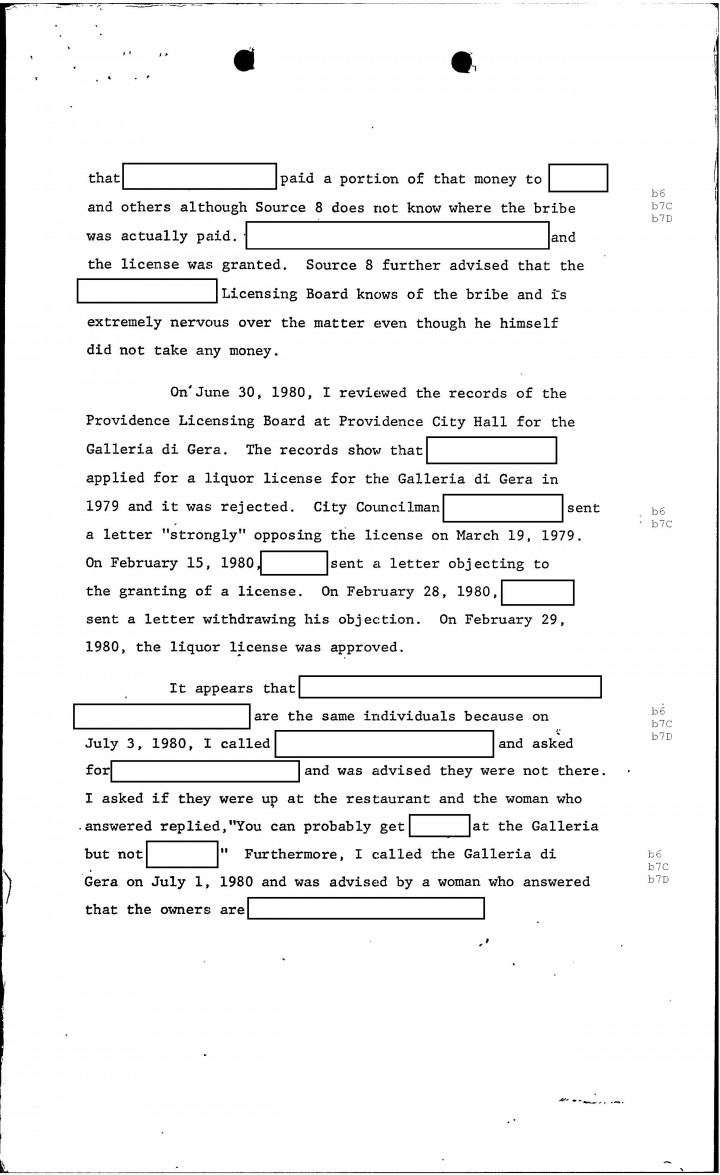 fbi files the patriarca papers entry quonset  page 34