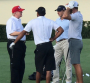 Brad Faxon plays golf with Donald Trump  PHOTO: Twitter/Cal Golf News