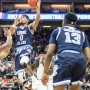 E.C. Matthews had 14 points, all in the second half for URI