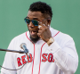 David Ortiz wipes tears during number retirement PHOTO: Red sox