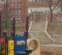 The playground at Asa Messer, which is slated to house an integrated pre-K next year -- and parents are saying is not barrier-free for special needs students.