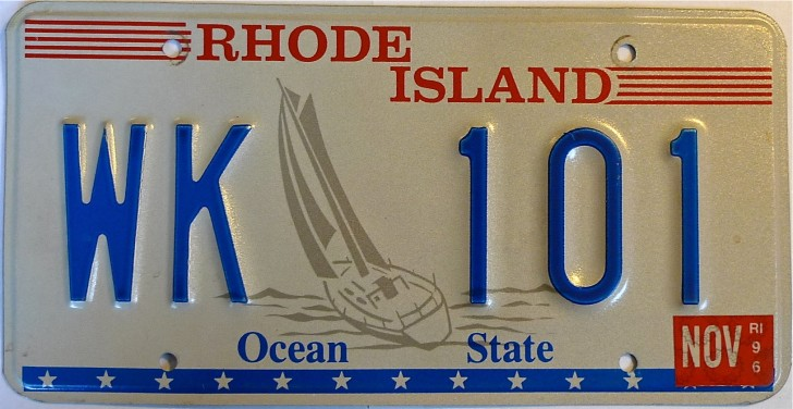 Rhode Island State Flag License Plate Vehicle Auto Tag Providence FREE SHIPPING
