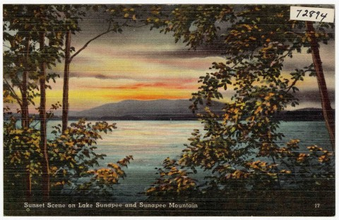Sunset scene on Lake Sunapee and Sunapee Mountain Credit:WIKIMEDIA COMMON