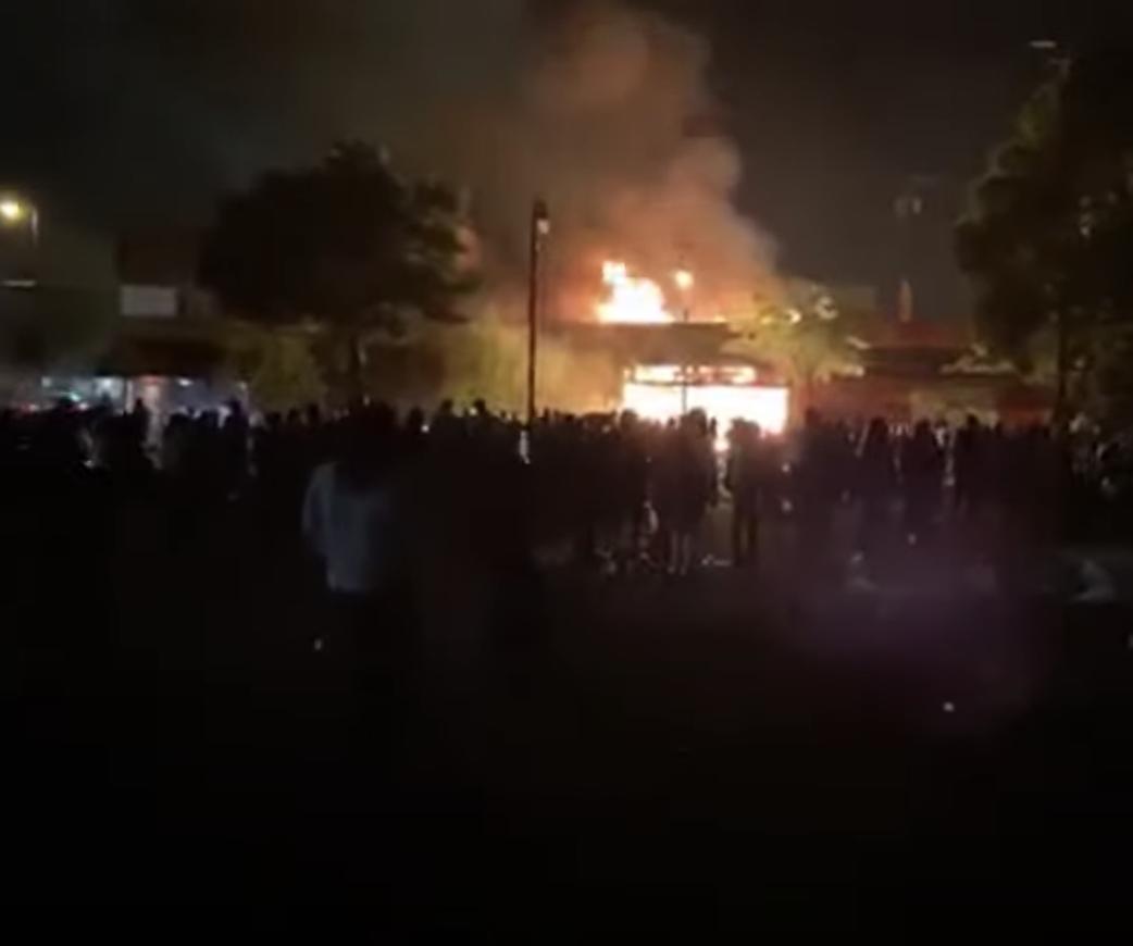 Police Station Burned ...