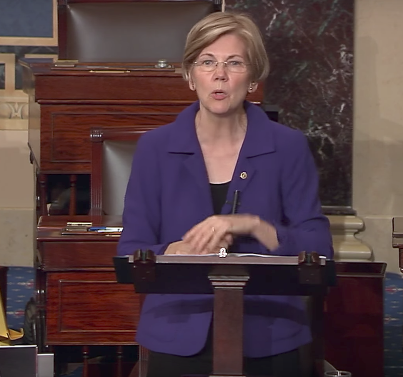Sen. Elizabeth Warren on Wall Street