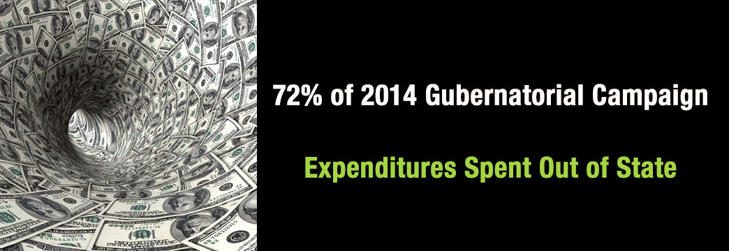 72% of 2014 Gubernatorial Campaign Expenditures Spent Out of State